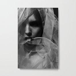 Mysterious Girl Metal Print