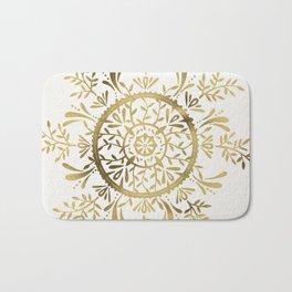 Leaf Mandala – Gold Palette Bath Mat