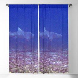 Watercolor Sealife Lemon Shark, Come a Little Closer! Blackout Curtain