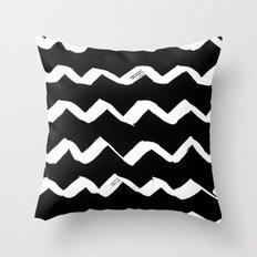 Ink Chevron(invert) Throw Pillow