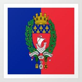 Flag of Paris 2 -Fluctuat nec mergitur Art Print