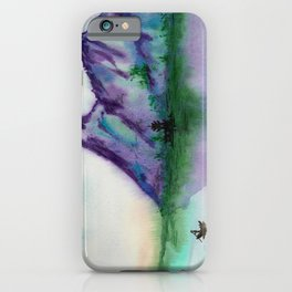 Fishing at Dawn iPhone Case