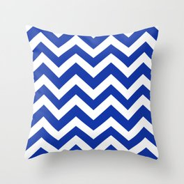 Egyptian blue - blue color - Zigzag Chevron Pattern Throw Pillow