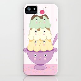Cute Ice Cream Sundae iPhone Case