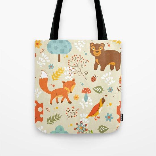 Woodland pattern Tote Bag