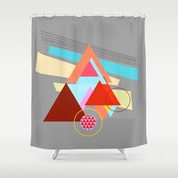 triangles Shower Curtains featuring Triangles  by haroulita