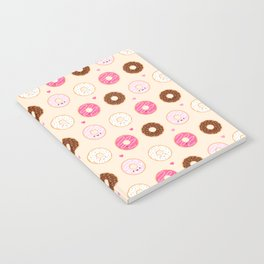 Cute Little Donuts on Cream Notebook