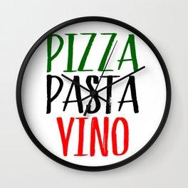 Pizza Pasta Vino Wall Clock