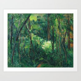1880 - Paul Cezanne - Interior of a forest Art Print