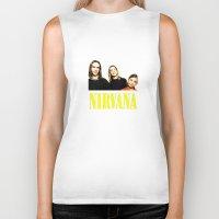 nirvana Biker Tanks featuring Nirvana Band by Rothko