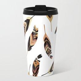 Feathers seamless pattern, vector illustration Travel Mug