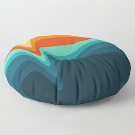 Retro Verve Floor Pillow