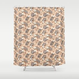 Opossum and Roses Shower Curtain