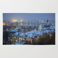 prague Area & Throw Rugs featuring Prague 2 by Veronika