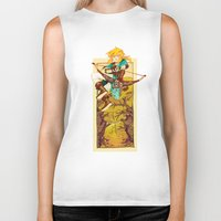 legend of zelda Biker Tanks featuring Legend of Zelda by bozrat