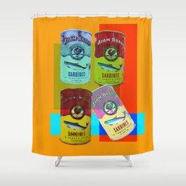 CANNED SARDINE Shower Curtain
