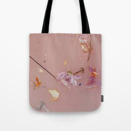 Harry Styles - pink flowers album Tote Bag