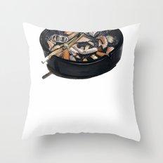 writer's ashtray Throw Pillow