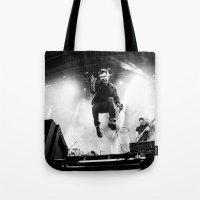 gorillaz Tote Bags featuring Damon Albarn (Blur) - I by Tomás Correa Arce (RockMe TommyBoy)