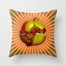 FESTIVE POMEGRANATE Throw Pillow