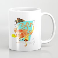 street fighter Mugs featuring STREET FIGHTER - DHALSIN by mirojunior
