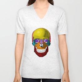 Skull Anatomy Unisex V-Neck