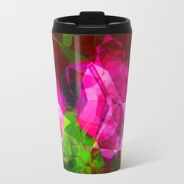 Rosas Moradas 1 Abstract Polygons 1 Travel Mug