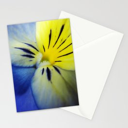Flower Blue Yellow Stationery Cards