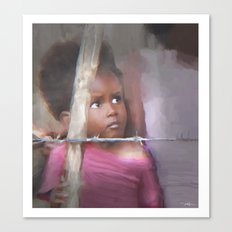 behind the barb Canvas Print