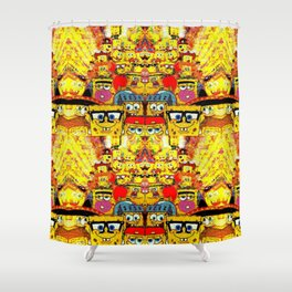 Pants Party Square Sea Show Shower Curtain