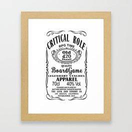 Critical Role Co. (Black) Framed Art Print