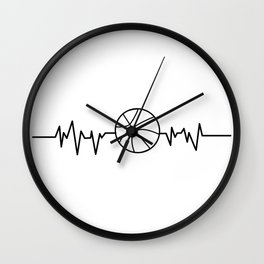 Heartbeat Basketball Sport Gift Wall Clock