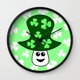 St. Patrick's Mushroom Wall Clock