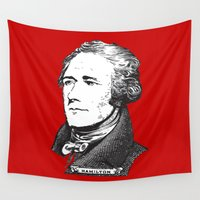 amy hamilton Wall Tapestries featuring Hamilton Red by byebyesally
