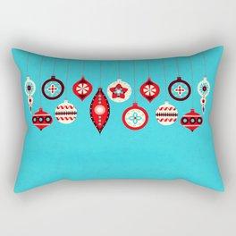 Retro Christmas Baubles Rectangular Pillow
