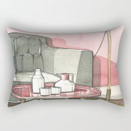 Watercolor_Interior Design_1 Rectangular Pillow