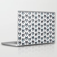 terrier Laptop & iPad Skins featuring BOSTON TERRIER by Barbarian // Barbra Ignatiev