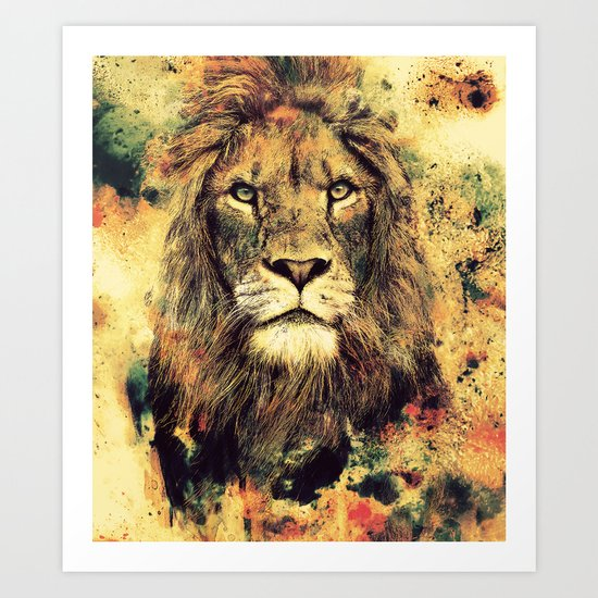 LION -THE KING Art Print