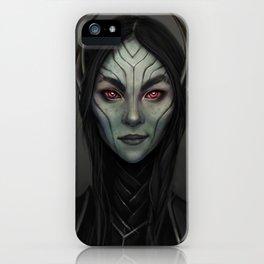 Dark Elf Girl Portrait iPhone Case