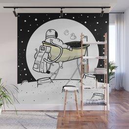 Astronaut in a bathtub Wall Mural