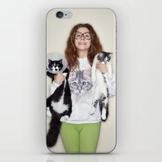Crazy Cat Lady Photograph iPhone & iPod Skin
