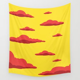 Cloudscape - Yellow Wall Tapestry
