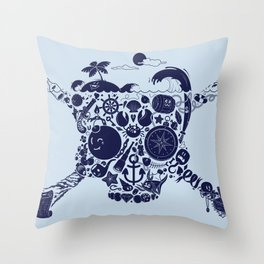 Pirates Stuff Throw Pillow