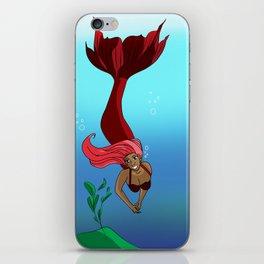 Pink Mermaid iPhone Skin