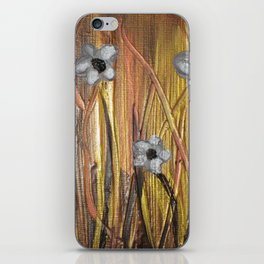 Shining Through The Flowers iPhone Skin
