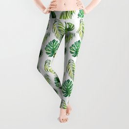 Leaf, Amazonia,Pattern, Jungle, Forest, Tropical, Palm, Tree, Design Leggings