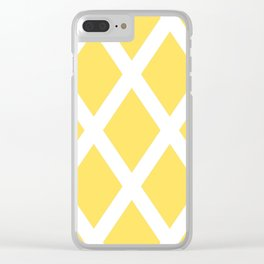 Yellow Diamonds Clear iPhone Case