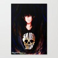 nico di angelo Canvas Prints featuring Nico di Angelo by TreyCain03