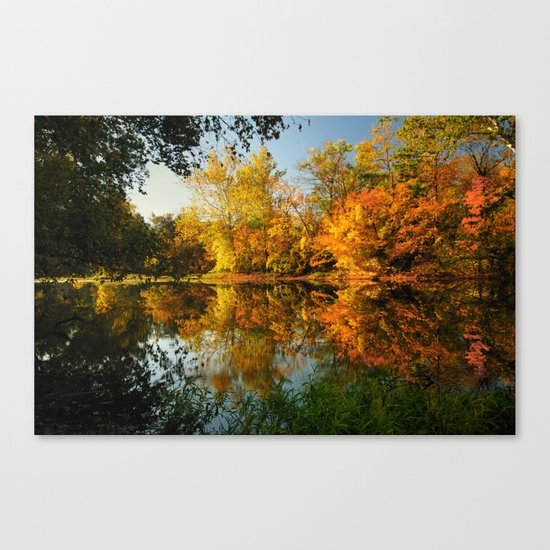 Fall on the Olentangy river Canvas Print