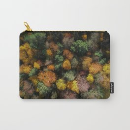 Autumn Forest - Aerial Photography Carry-All Pouch